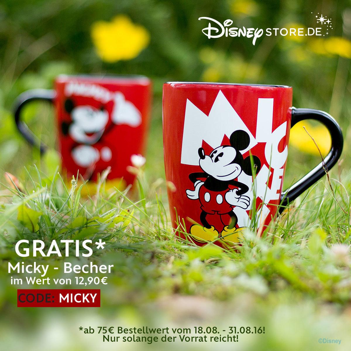 Disney Store Gratis Micky Becher