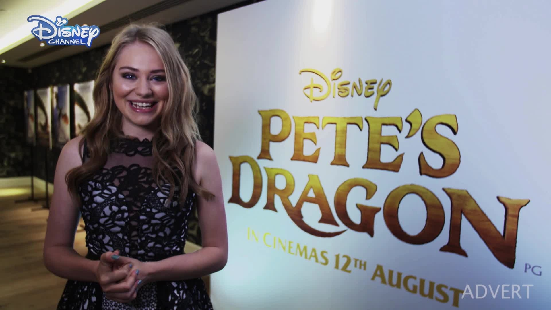 Pete's Dragon - Georgia Lock At The European Premiere