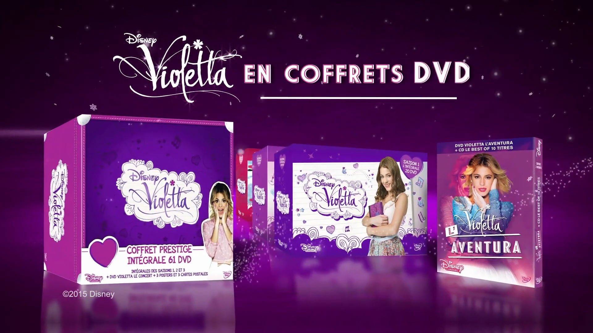 Coffrets DVD de Noël Violetta !