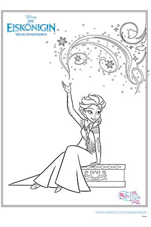 ausmalbild - elsa   die eiskönigin