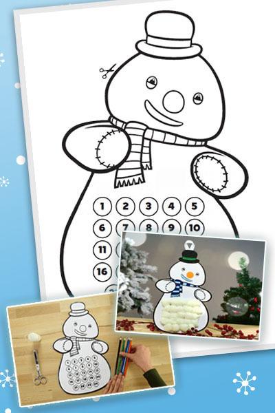 Chilly der Schneemann – Adventskalender