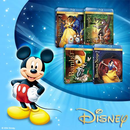 Une magnifique panoplie de Blu-ray classiques Disney à gagner !