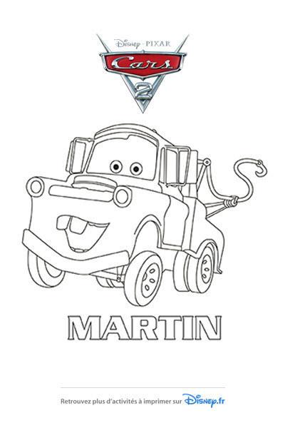 Coloriage Martin est content !