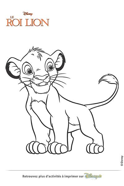 Coloriage Le Roi Lion Colorier Les Enfants Marnfozine Com
