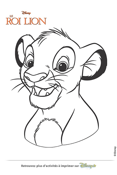 Coloriage simba disney coloriages fr - Simba coloriage ...