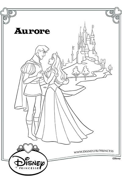 Coloriage la belle au bois dormant disney coloriages fr - Aurore princesse disney ...