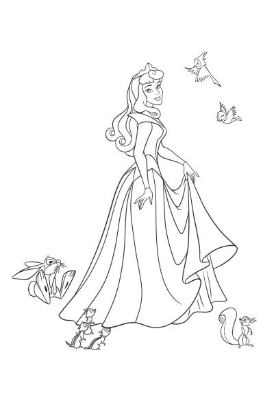 Coloriage la belle au bois dormant we love disney 2 - Aurore princesse disney ...