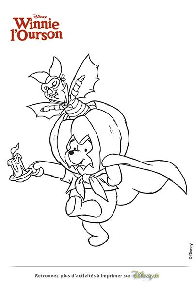 Coloriage Halloween Winnie et Porcinet