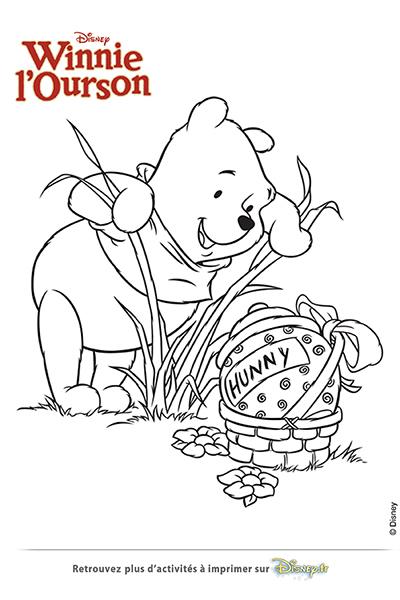 Coloriage winnie trouve un gros oeuf disney coloriages fr - Winnie l ourson coloriage ...