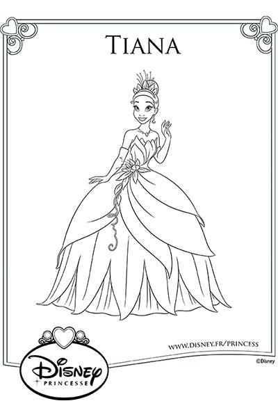 Coloriage la robe de tiana disney coloriages fr - Coloriage robe de princesse ...