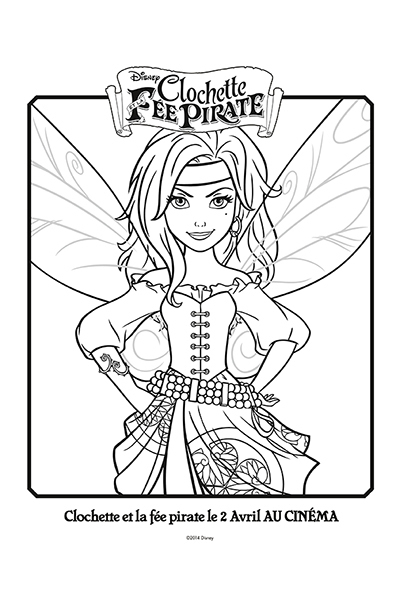 Coloriage zarina la f e pirate disney coloriages fr - Fee clochette et les pirates ...