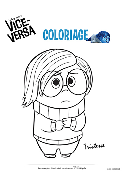 Coloriage Tristesse