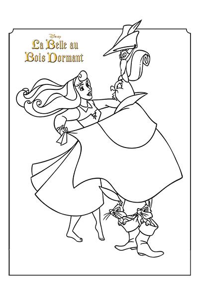 Coloriage la robe d 39 aurore disney coloriages fr - Coloriage aurore disney ...