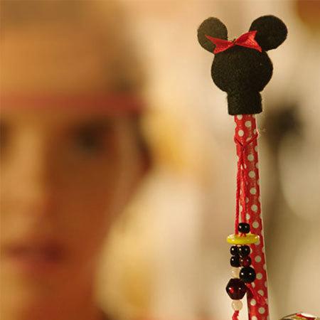 Basteln: Süßer Minnies Stiftaufstecker