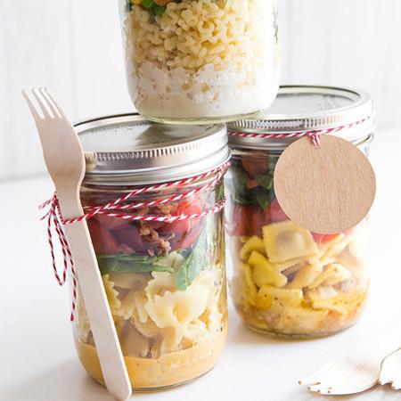 Kochen: Alles steht Kopf Nudeln im Einweckglas