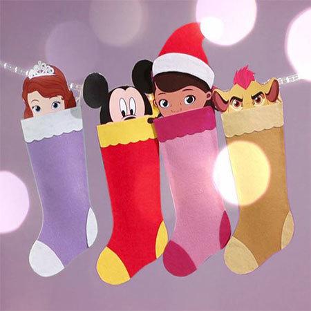 Basteln: Disney Junior Weihnachtsstrumpf