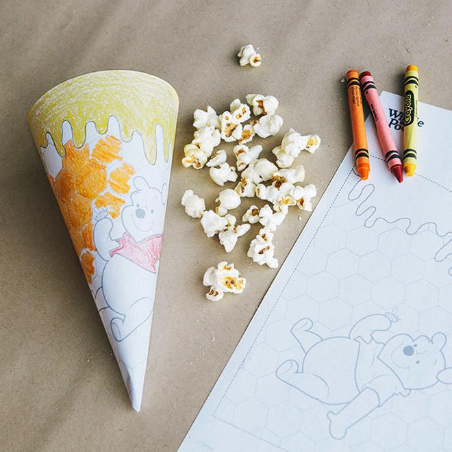 Winnie Puuhs bunte Popcorntüte