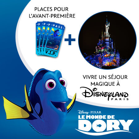 À gagner : 4 invitations VIP pour assister à l'avant-première du film Le Monde de Dory !