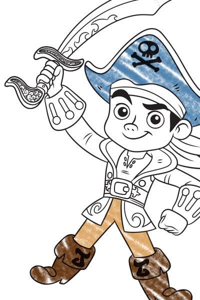 Kapitän Jake Line Art 1
