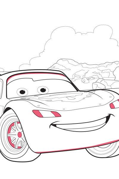 Lightning McQueen Ausmalbild