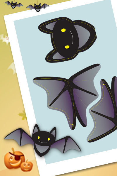 Halloween Hanging Batty Bat Decorations