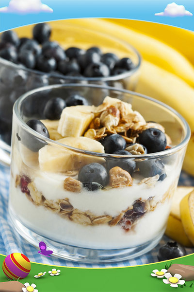 Coupes au yaourt appétissantes