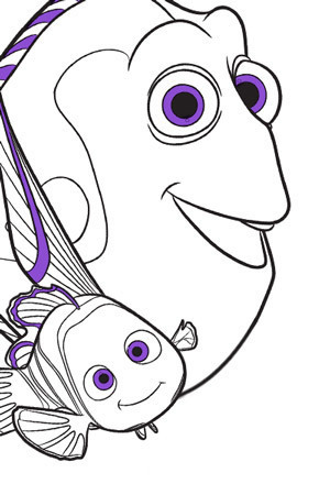 Marlin Colouring Page