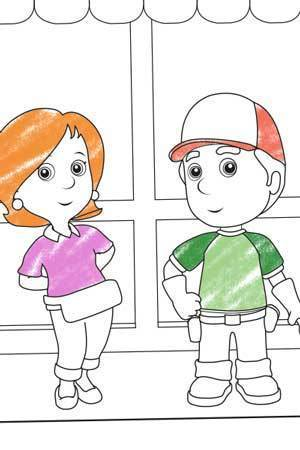 Kelly And Manny Colouring Page