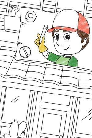 Handy Manny Colouring Page
