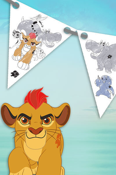 Lion Guard Party Bunting