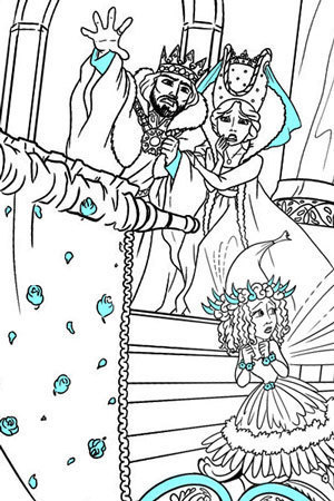 Maleficent's Curse Colouring Page