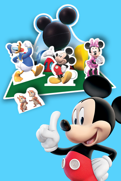 Figurines et décor de jeu La Maison de Mickey