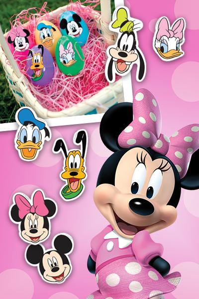 Autocollants pour œufs de Pâques Mickey et ses amis