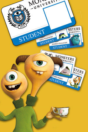Monsters University Card