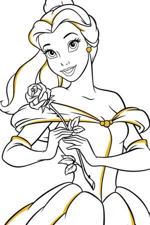 Snow White Colouring Page