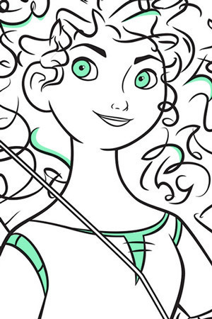 Merida Colouring Page