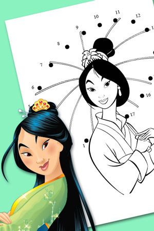 Mulan Connect-the-dots