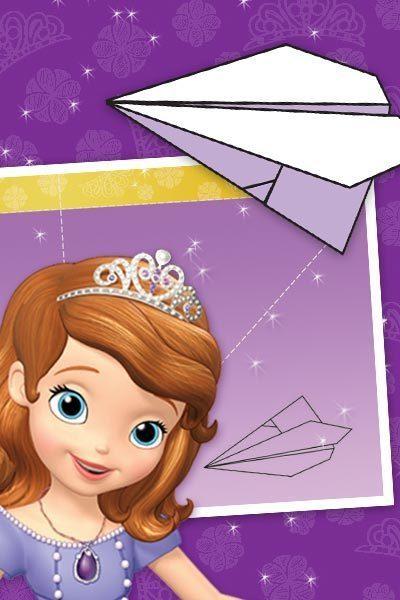 Avion en papier Princesse Sofia