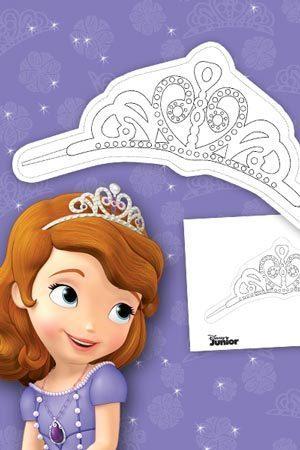 Princesse sofia imprime et colorie sofia disney junior - Couronne princesse disney ...