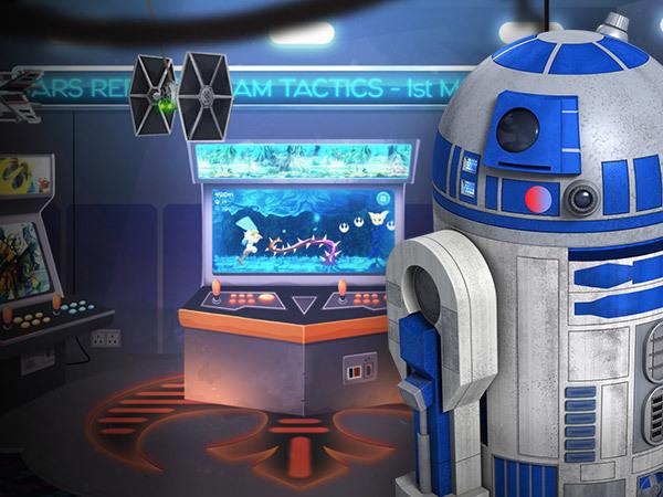 La salle d'arcade Star Wars