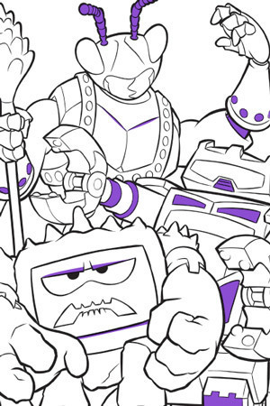 Twitch, Chunk and Sparks Colouring Page