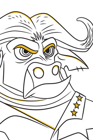 Chief Bogo Colouring Page