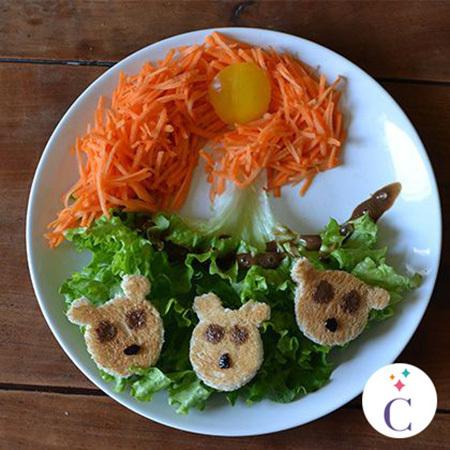 La salade Merida et les oursons