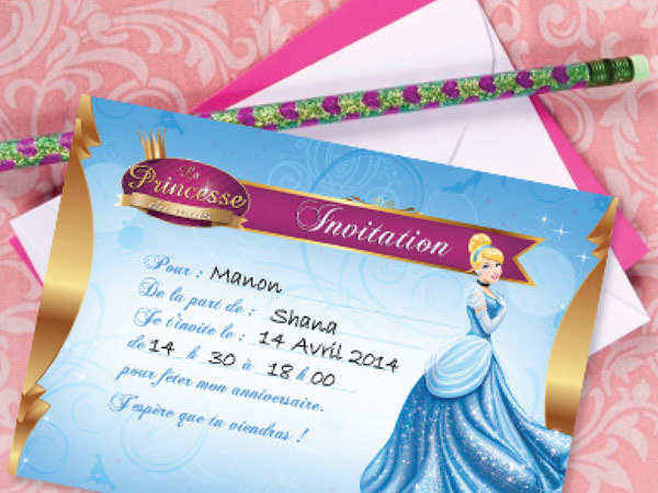 Cendrillon - Tes invitations Cendrillon