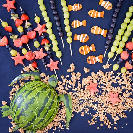Le plateau de fruits du récif
