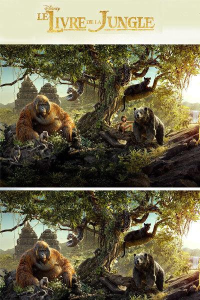 Jeu des différences Le Livre de la Jungle