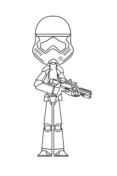 Coloriage star wars stormtrooper disney coloriages fr - Dessin vaisseau star wars ...