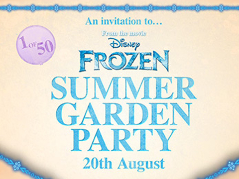Win tickets to a Frozen themed garden party