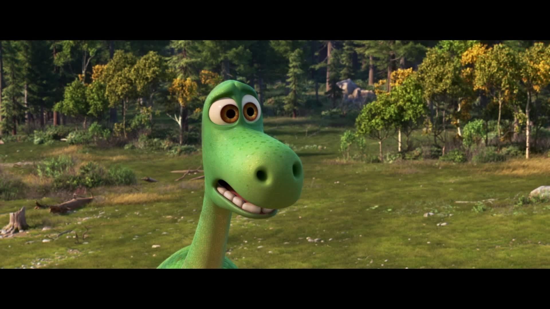 Le Voyage d'Arlo – Vie de Dino : Dis bonjour à mes petits amis