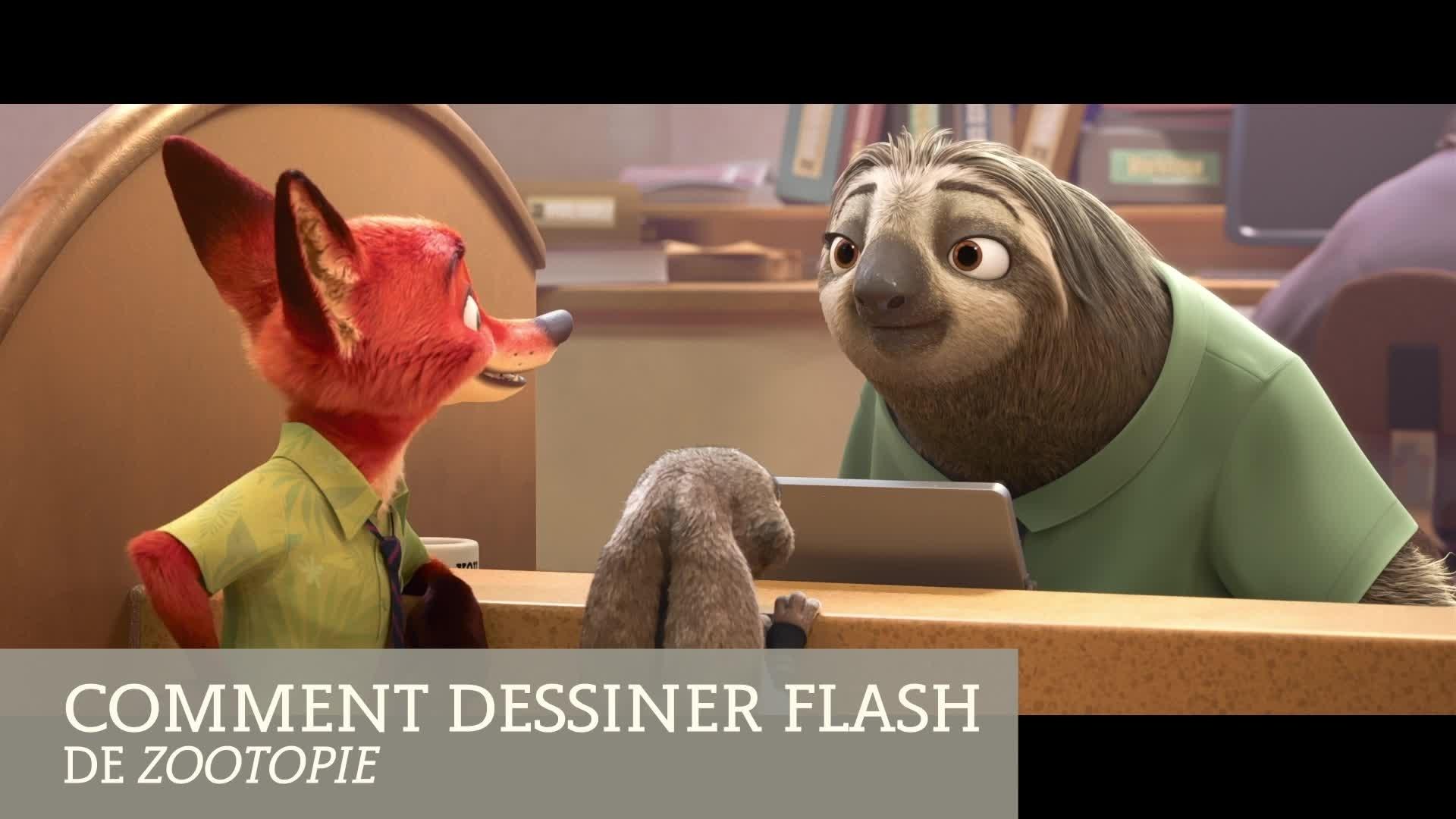 Zootopie : apprends à dessiner Flash
